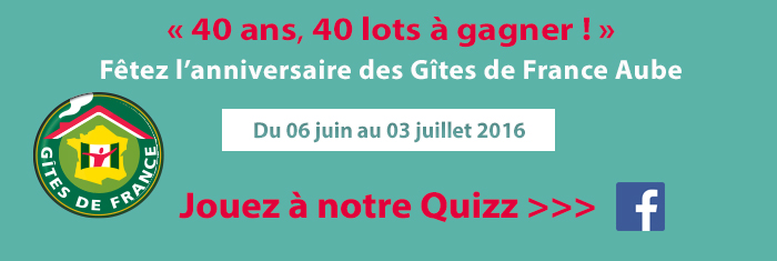 Quizz 40 ans, 40 lots � gagner